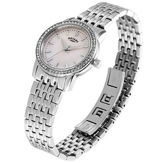 Rotary Ladies' Stone Set Stainless Steel Bracelet Watch - Product number 5056861