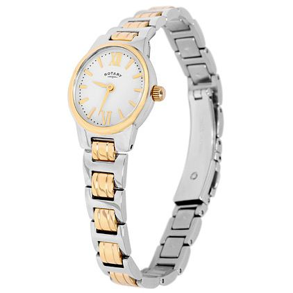 Rotary Ladies' 2 Colour Stainless Steel Bracelet Watch - Product number 5056934