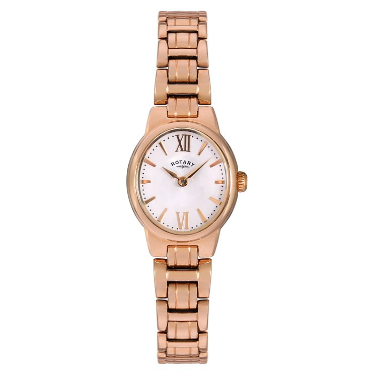 Rotary Ladies' Rose Gold-Plated Bracelet Watch - Product number 5056942