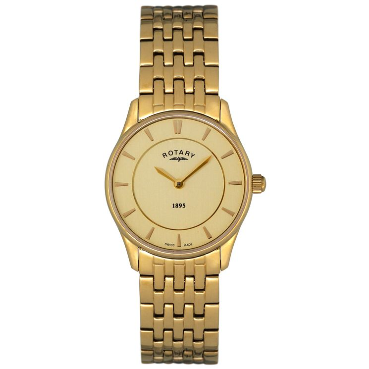 Rotary Ladies' Gold Dial Gold-Plated Bracelet Watch - Product number 5057035