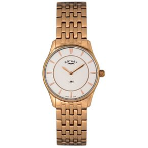 Rotary Ladies' Rose Gold-Plated Bracelet Watch - Product number 5057043