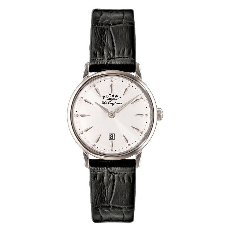 Rotary Les Originales Ladies' Black Leather Strap Watch - Product number 5057280