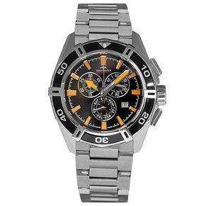Rotary Men's Black Dial Stainless Steel Bracelet Watch - Product number 5057345
