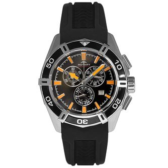 Rotary Men's Black Dial Black Silicone Strap Watch - Product number 5057361