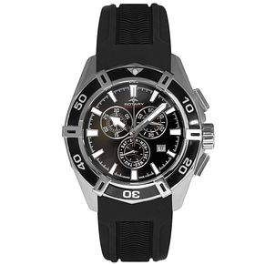 Rotary Men's Black Dial Black Silicone Strap Watch - Product number 5057388
