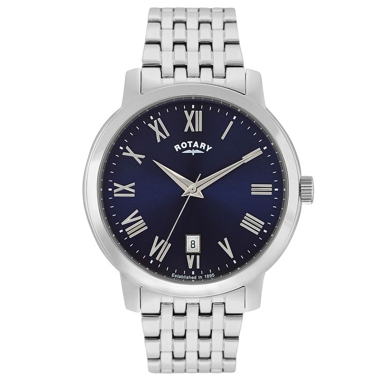 Rotary Men's Blue Dial Stainless Steel Bracelet Watch - Product number 5057396