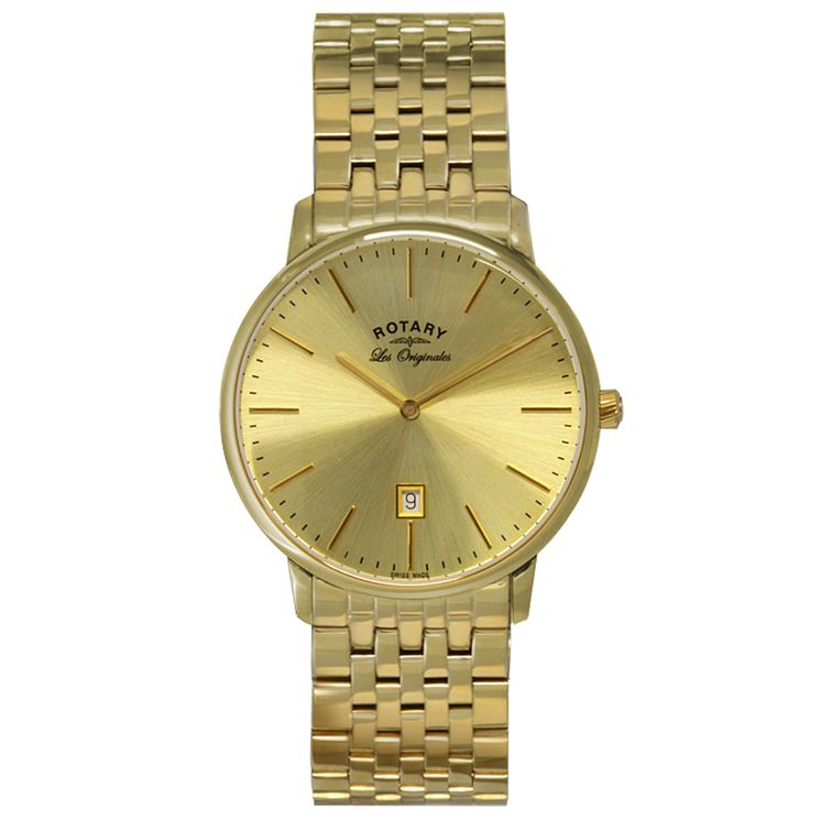 Rotary Les Originales Men's Gold-Plated Bracelet Watch - Product number 5057523