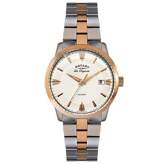 Rotary Les Originales Regent Men's 2 Colour Bracelet Watch - Product number 5057655