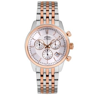 Rotary Les Originales Men's 2 Colour Steel Bracelet Watch - Product number 5057698