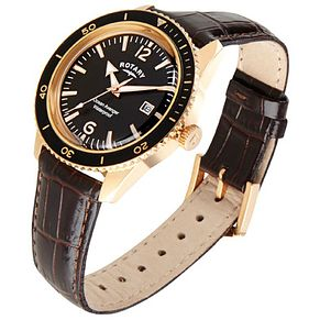 Rotary Ocean Avenger Men's Brown Leather Strap Watch - Product number 5057752
