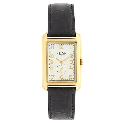 Rotary Men's Gold-Plated Brown Leather Strap Watch - Product number 5057760