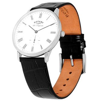 Rotary Les Originales Men's Black Leather Strap Watch - Product number 5057825