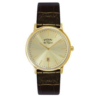 Rotary Men's Brown Leather Strap Watch - Product number 5057833