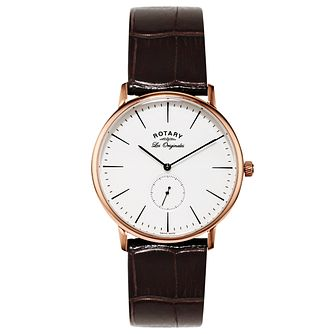 Rotary Les Originales Men's Brown Leather Strap Watch - Product number 5057841