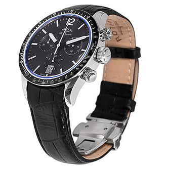 Rotary Les Originales Men's Black Leather Strap Watch - Product number 5058023