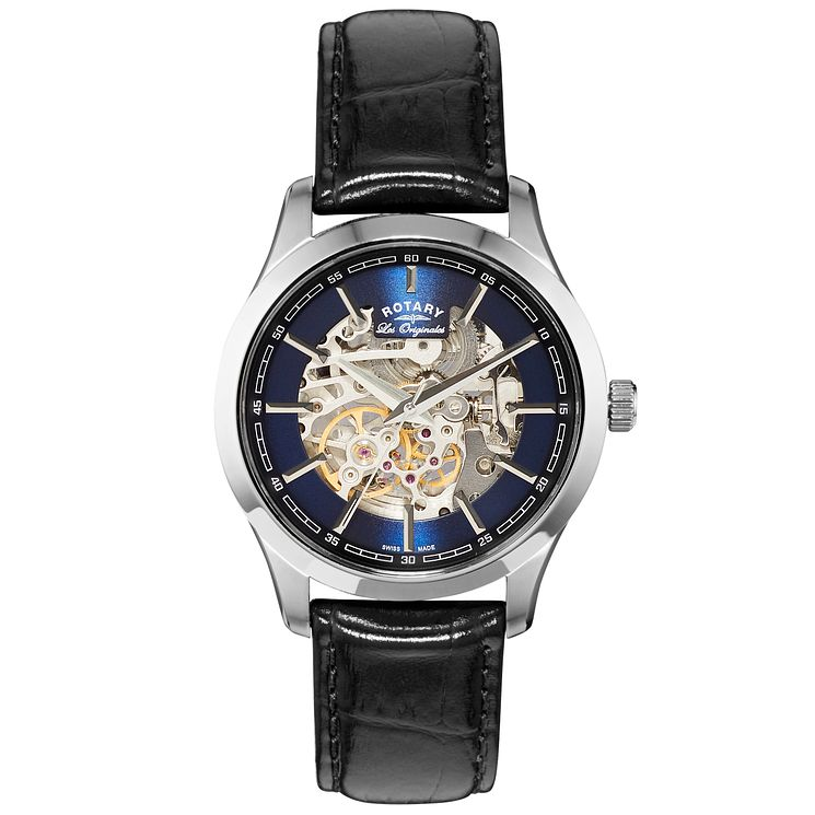Rotary Les Originales Men's Black Leather Strap Watch - Product number 5058031