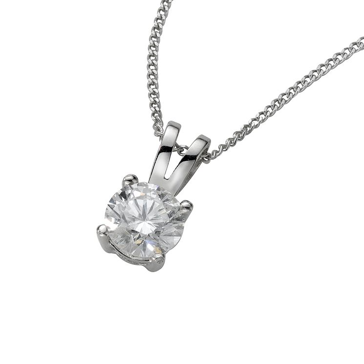 18ct White Gold 0.50ct H/I P1 Diamond Pendant - Product number 5062624