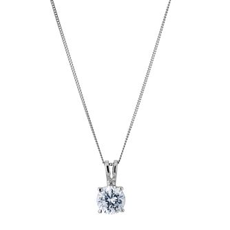18ct White Gold 1ct H/I P1 Diamond Pendant - Product number 5062659