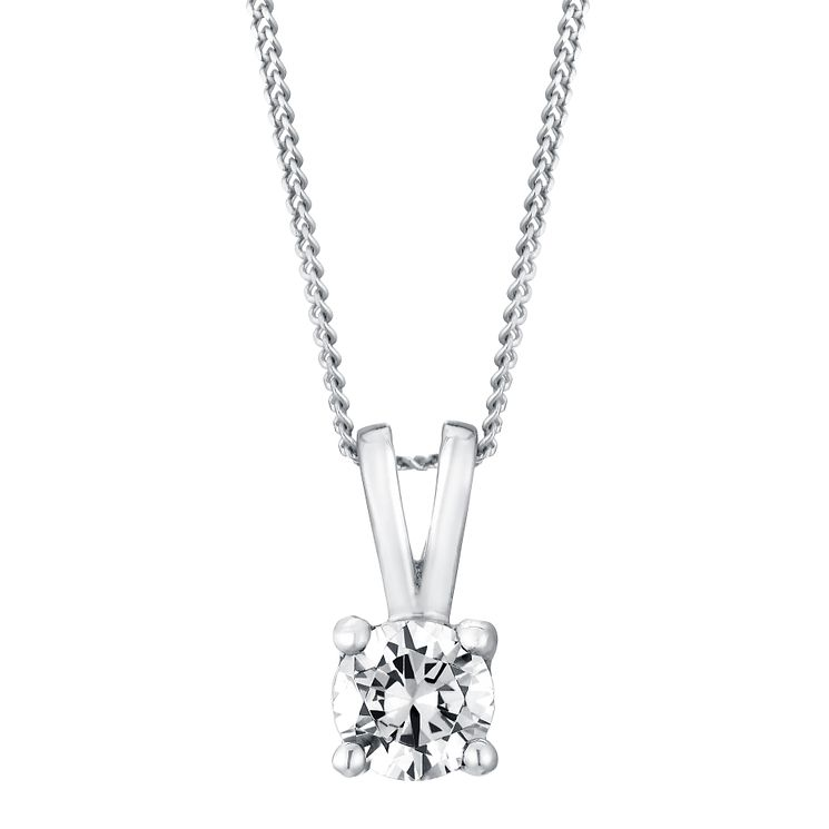 18ct White Gold 0.40ct G/H SI1 Diamond Pendant - Product number 5062683