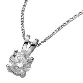 18ct White Gold 0.50ct H/I SI2 Diamond Pendant - Product number 5062721