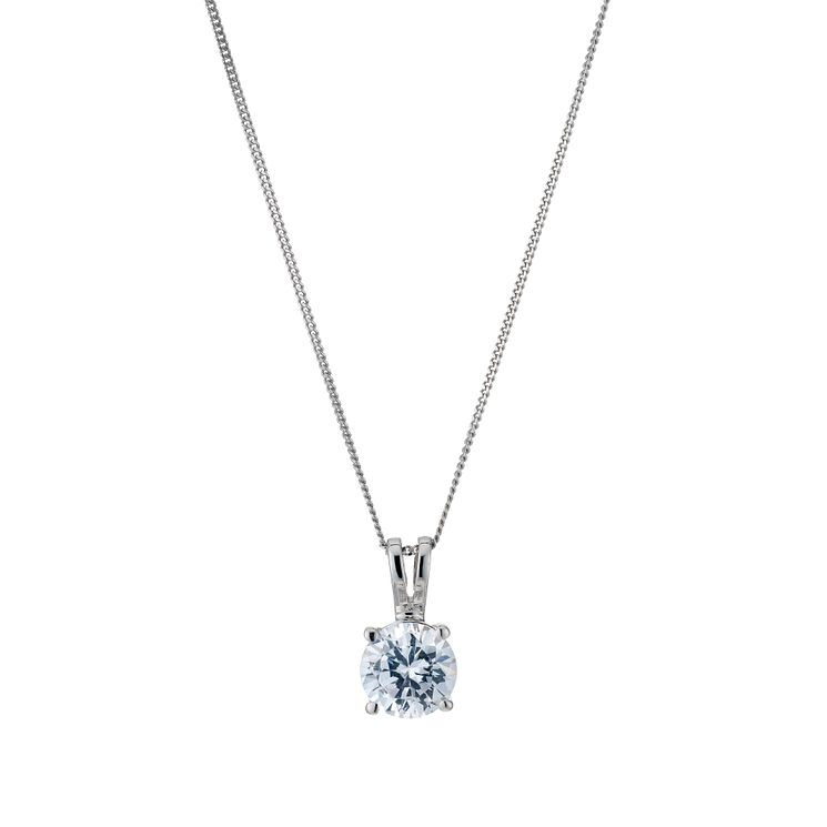 18ct White Gold 1ct H/I SI2 Diamond Pendant - Product number 5062764
