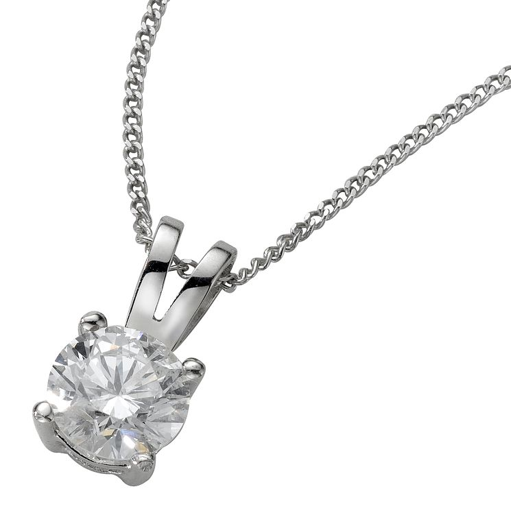 18ct White Gold 0.50ct F/G VS2 Diamond Pendant - Product number 5062799