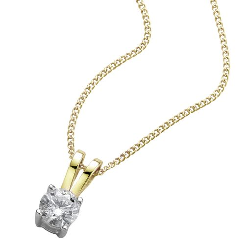 18ct yellow gold 0.25ct diamond pendant - Product number 5062802