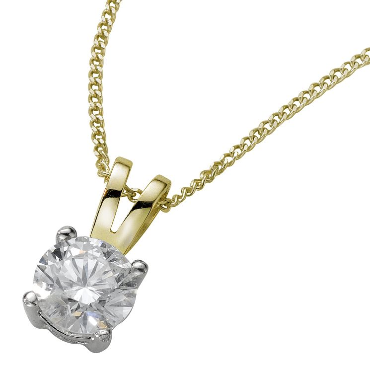 18ct yellow gold 0.50ct G/H SI1 Diamond pendant - Product number 5063396