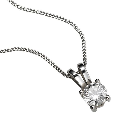 Platinum 0.33ct H/I P1 Diamond pendant necklace - Product number 5063760