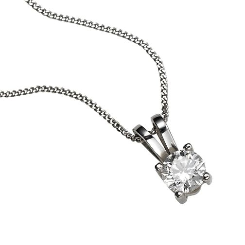 Platinum 0.33ct G/H SI1 Diamond pendant necklace - Product number 5063981