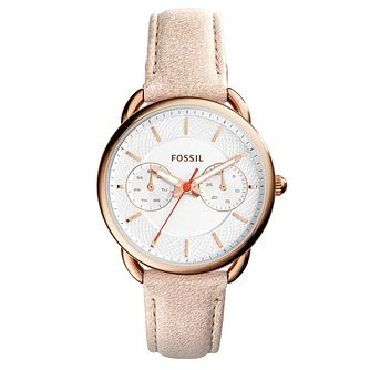 Fossil Tailor Ladies' Papaya Leather Strap Watch - Product number 5065631