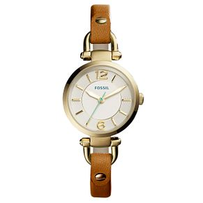 Fossil Ladies' Brown Leather Strap Watch - Product number 5065674