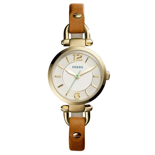 Fossil Georgia Ladies' Brown Leather Strap Watch - Product number 5065674