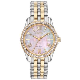 Citizen Eco Drive Ladies' Two Colour Bracelet Watch - Product number 5066891
