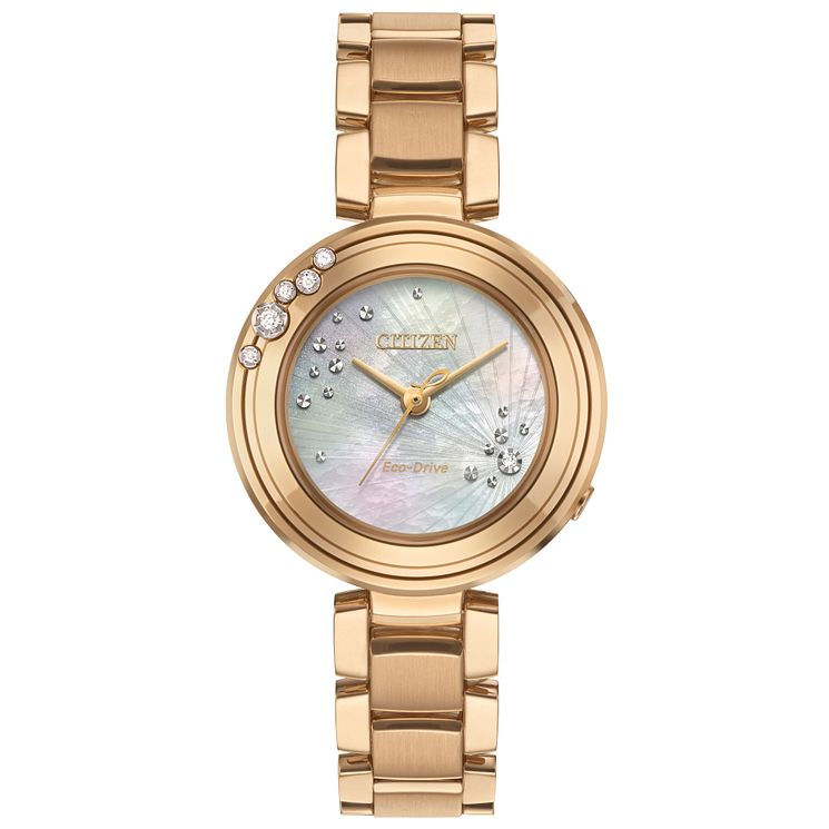 Citizen Carina Ladies' Rose Gold Plated Bracelet Watch - Product number 5067855
