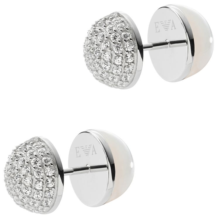Emporio Armani Sterling Silver Stud Earrings - Product number 5074223