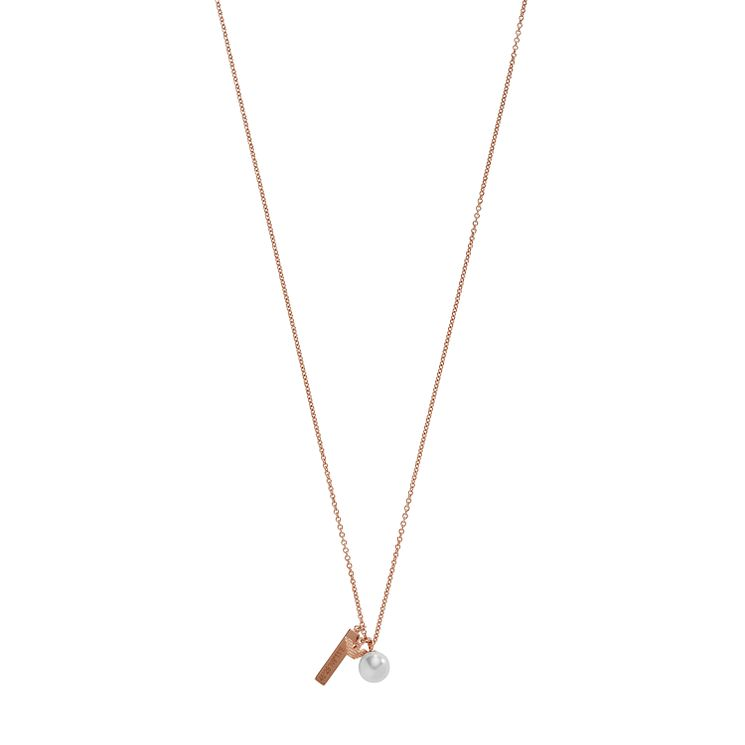 Emporio Armani Rose Gold Tone Charm Necklace - Product number 5074266