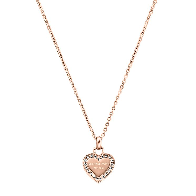 Michael Kors Rose Gold Tone Stone Set Necklace - Product number 5084830