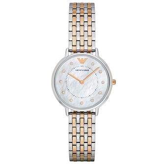 Emporio Armani Ladies' Two Colour Bracelet Watch - Product number 5085195
