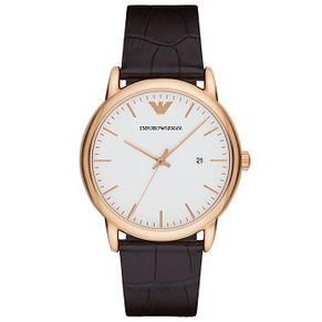 Emporio Armani Men's Rose Gold Tone Strap Watch - Product number 5085349