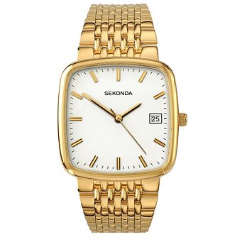 Sekonda Ladies' Square Dial Gold-Plated Bracelet Watch - Product number 5086175