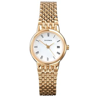 Sekonda Ladies' White Dial Gold-Plated Bracelet Watch - Product number 5086191
