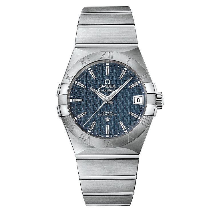 Omega Constellation Men's Stainless Steel Blue Dial Watch - Product number 5086337