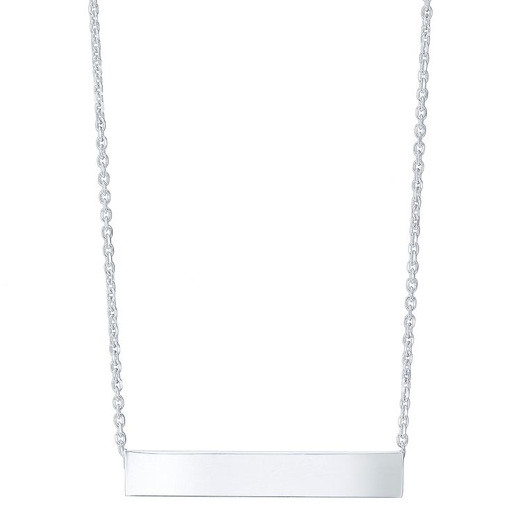 Silver Engraveable Bar Necklace - Product number 5088399