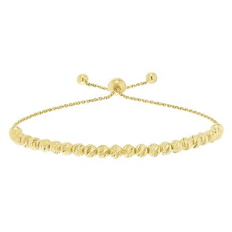 9ct Yellow Gold Large Bead Bolo Adjustable Bracelet - Product number 5088798