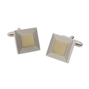 Rhodium-Plated & Gold Tone Square Cufflinks - Product number 5090059