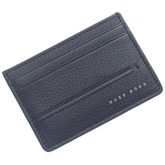 Hugo Boss Men's Navy Leather Cardholder - Product number 5092426
