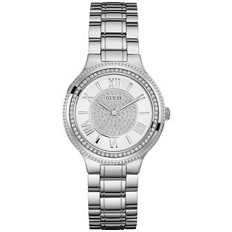 Guess Ladies' Stone Set Stainless Steel Bracelet Watch - Product number 5093821