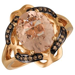 Le Vian 14ct Strawberry Gold Peach Morganite Ring - Product number 5102243