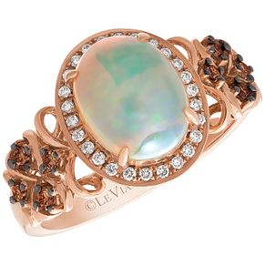 Le Vian 14ct Strawberry Gold Opal & Chocolate Diamond Ring - Product number 5102278